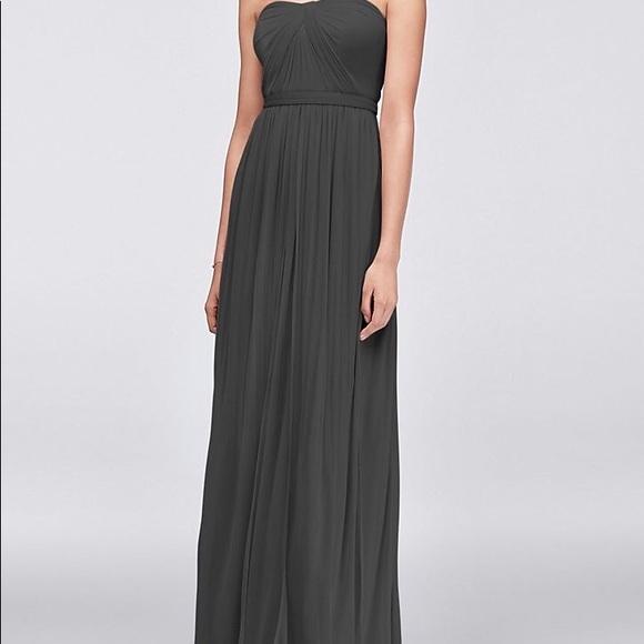 959a1e88c2c David s Bridal Dresses   Skirts - Davids Bridal Graphite Bridesmaid Dress